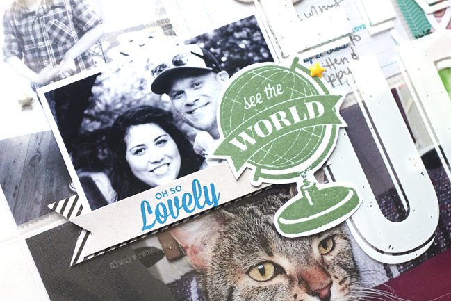 five non-travel ideas for scrapbooking with globes - jamie leija @ shimelle.com