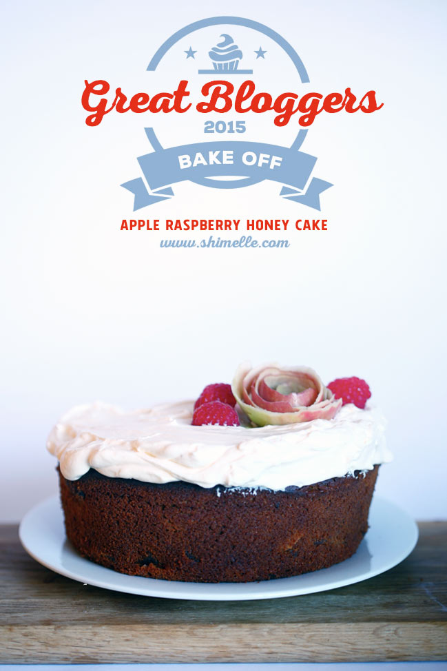 gluten-free apple raspberry honey cake #gbbo @ shimelle.com