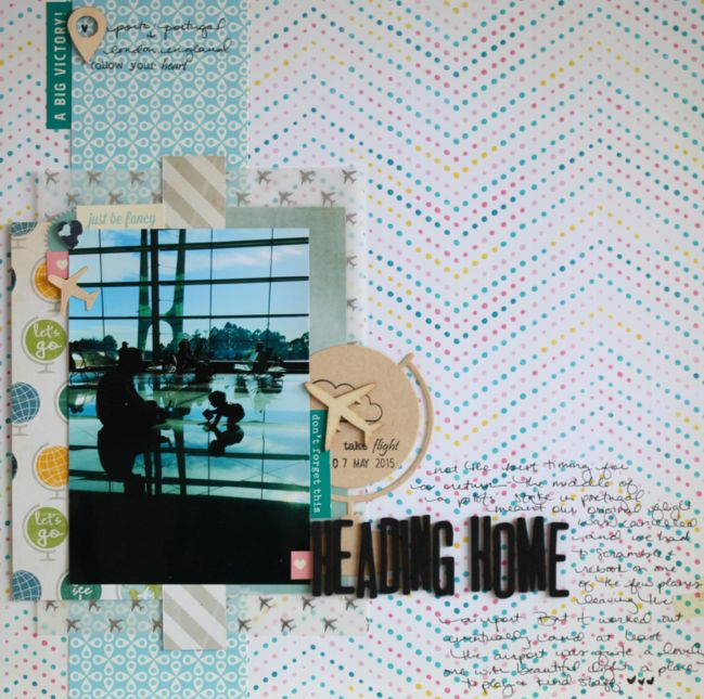 Travel Scrapbook Page with Mind the Scrap Kit - video in post @ shimelle.com