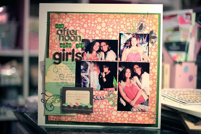 scrapbook page from a sketch