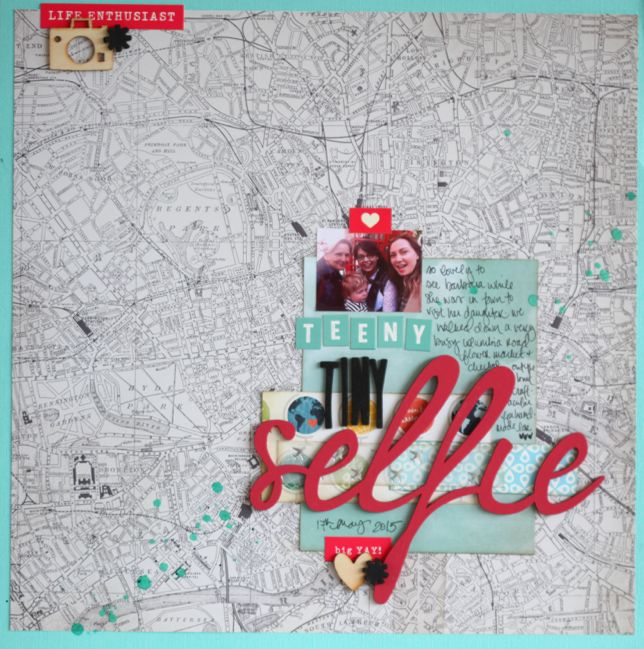 scrapbook page with process video by shimelle laine @ shimelle.com
