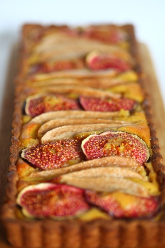 Gluten-Free Frangipane with Figs, Pears, and Ginger - inspired by the Bake Off #gbbo @ shimelle.com