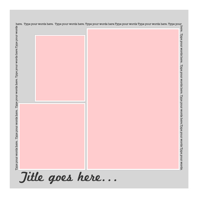 free digital page template to download