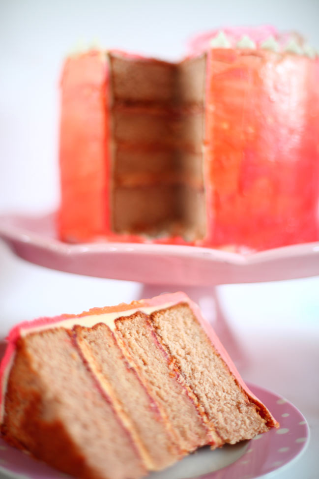 gluten free rhubarb and custard layer cake - inspired by the great british bake off #gbbo @ shimelle.com