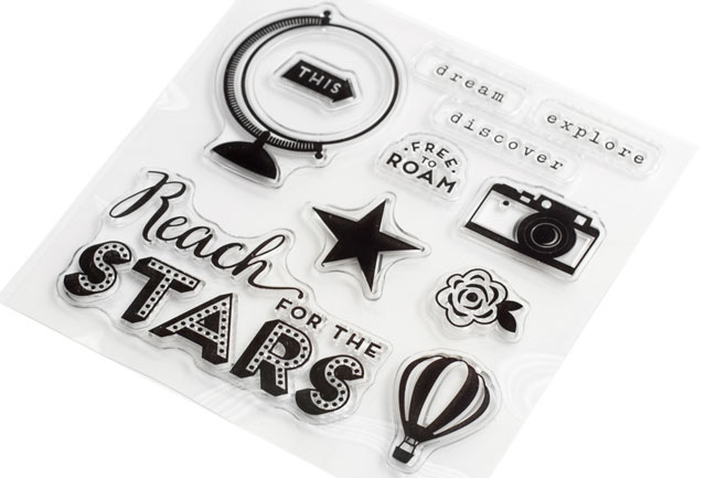 clear stamps - Starshine Scrapbooking Collection from Shimelle & American Crafts @ shimelle.com