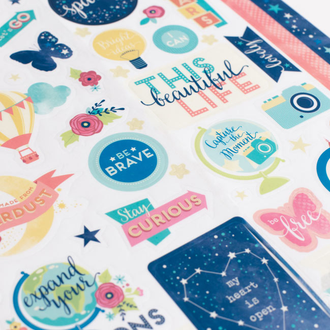 larger sticker sheet - Starshine Scrapbooking Collection from Shimelle & American Crafts @ shimelle.com