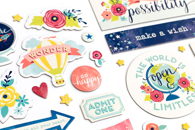 chipboard stickers - Starshine Scrapbooking Collection from Shimelle & American Crafts @ shimelle.com