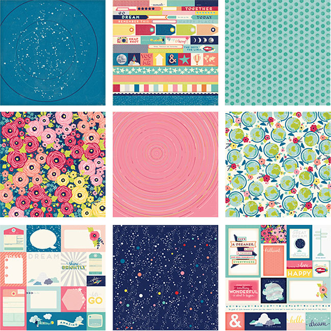12x12 papers - Starshine Scrapbooking Collection from Shimelle & American Crafts @ shimelle.com