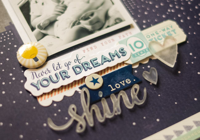 scrapbook page by Evelyn Yusuf featuring the Starshine collection @ shimelle.com