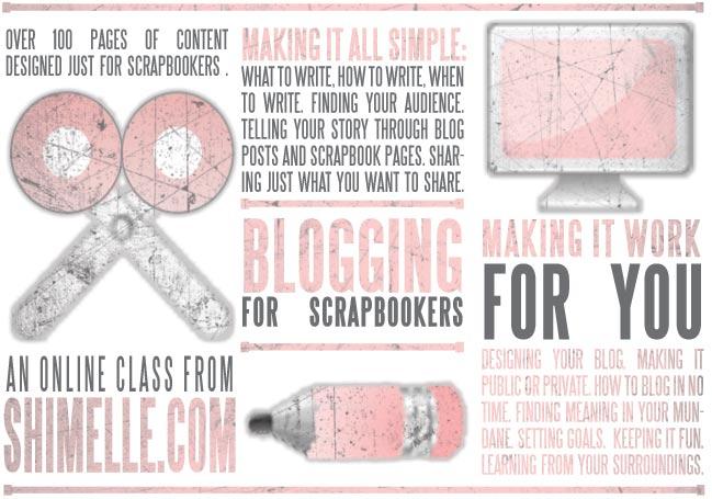 online scrapbooking class :: blogging for scrapbookers