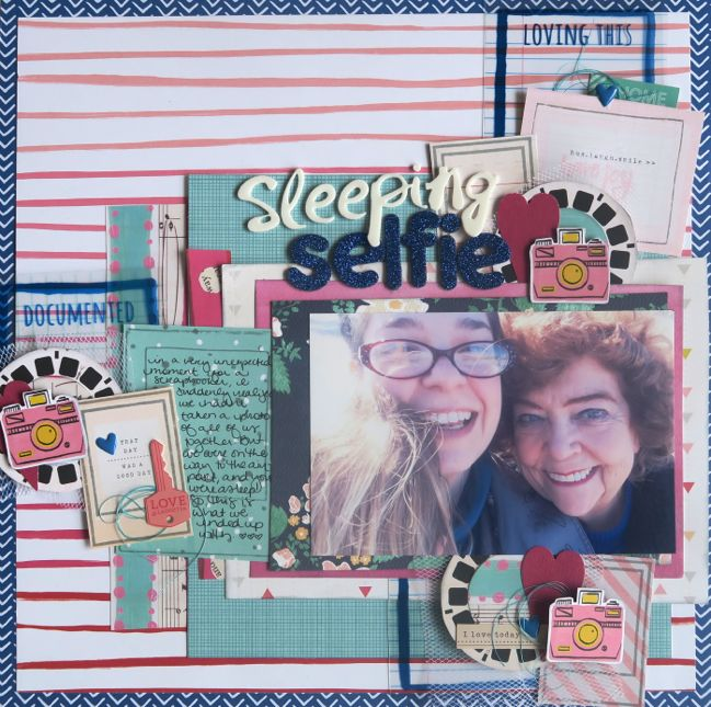 scrapbooking with handmade embellishments - Glitter Girl video @ shimelle.com