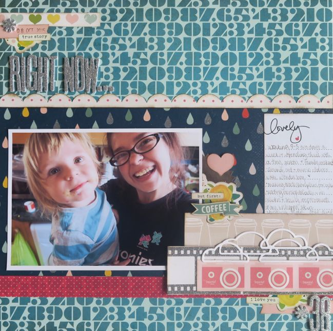 Right Now selfie scrapbook page with process video @ shimelle.com