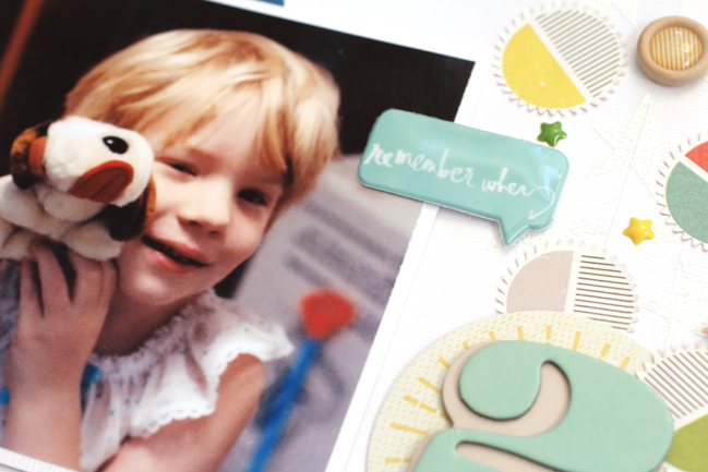 Scrapbook Journaling for Childhood Memories by meghann andrew @ shimelle.com