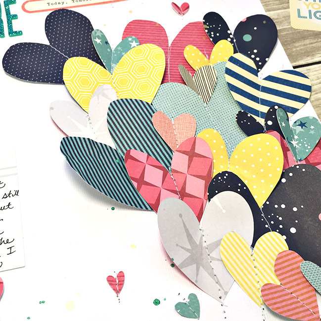 Exploding Heart Page Design :: Scrapbook Page by Heather Leopard