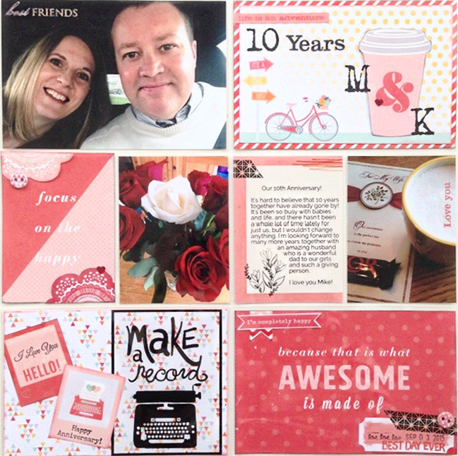 scrapbooking with pink AND red - page by Karla Yungwirth@ shimelle.com