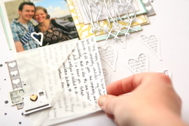 Lovehearts don't have to be red: A scrapbooking tutorial in textures and layers by Kirsty Smith @ shimelle.com