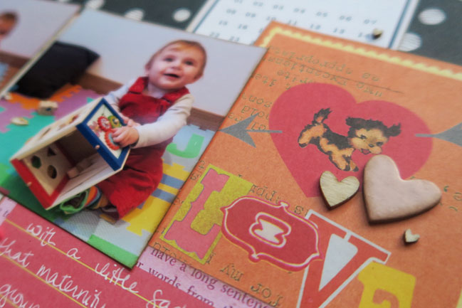scrapbooking with pink AND red @ shimelle.com