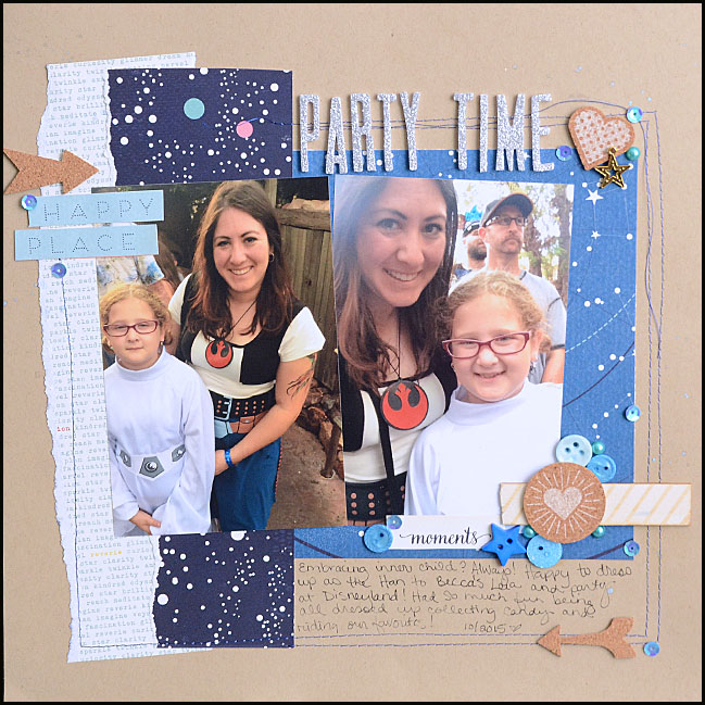 weekly challenge: mix old scrapbooking stash with new favourites @ shimelle.com // layout by May Flaum