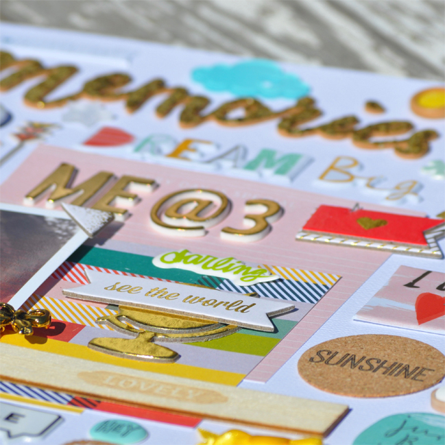 weekly challenge: mix old scrapbooking stash with new favourites @ shimelle.com // layout by Aimee Maddern