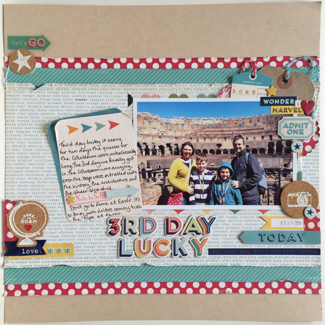 colour story - scrapbook page by Jo Boland