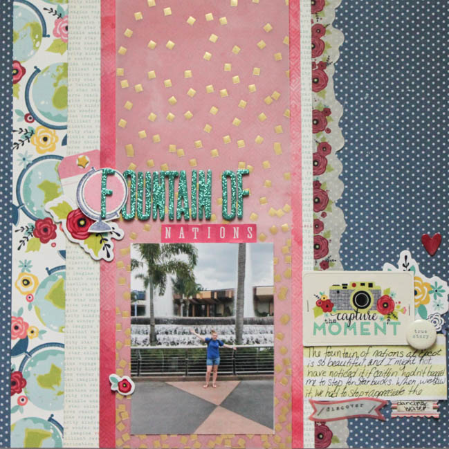 weekly challenge:weekly challenge: take inspiraton from maps or globes @ shimelle.com // layout by MARGIE VISNICK