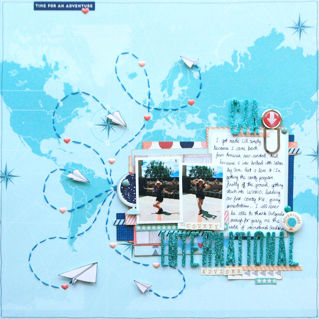 weekly challenge: take inspiraton from maps or globes @ shimelle.com // layout by KIRSTY SMITH