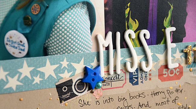 weekly challenge: scrap 3 photos on one page // layout by May Flaum