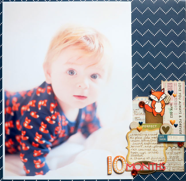 Design ideas for scrapbooking larger photos