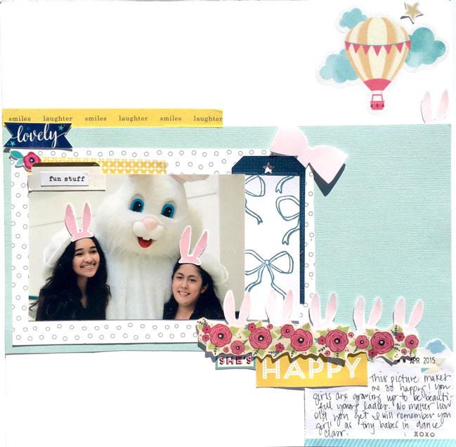 a simple stamping technique for scrapbook pages // scrapbook page by Jossie M. Segura