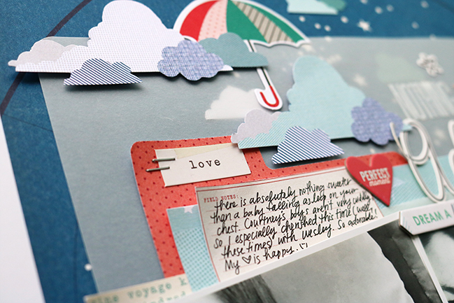 weekly challenge: scrapbook with vellum // layout by Jen Schow