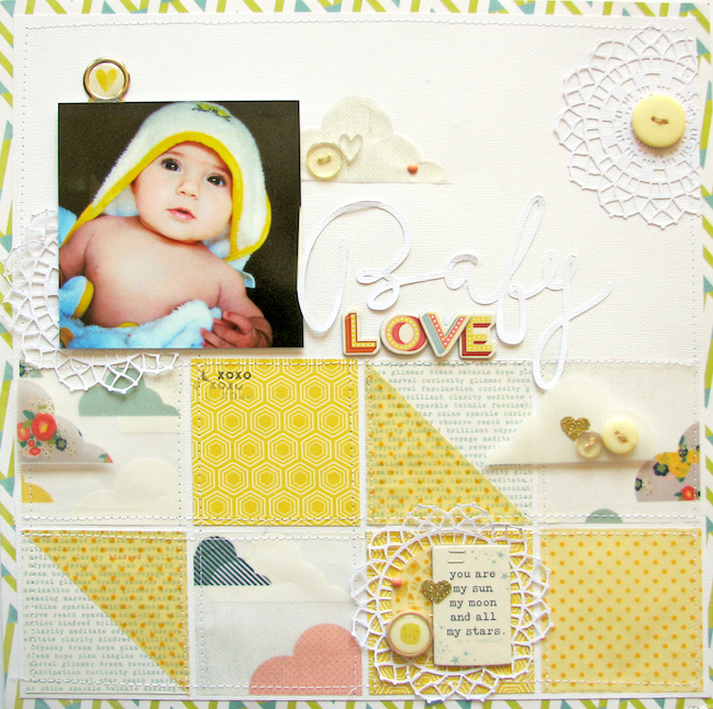 weekly challenge: scrapbook with vellum // layout by Nicole Nowosad