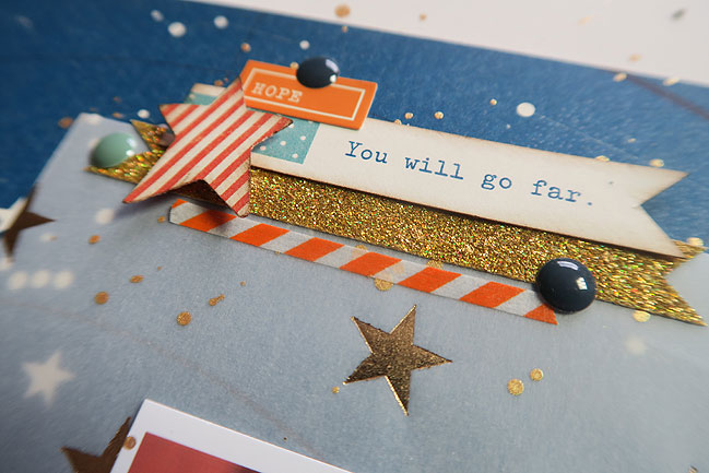Glitter Girl scrapbooking video on layering // scrapbook page by shimelle laine