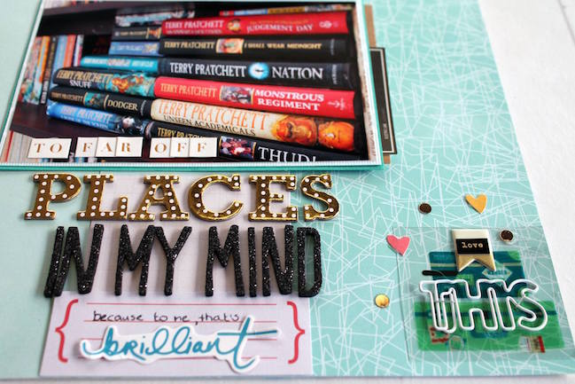 weekly challenge: scrapbook about a favourite book // scrapbook page by Tanya Hubbard
