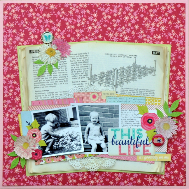 how to incorporate books into your crafting @ shimelle.com // layout by sheena rowlands