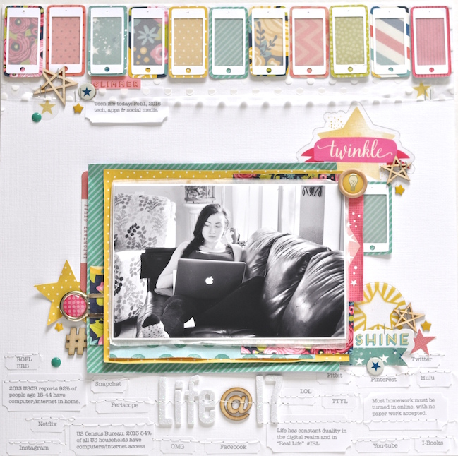 weekly challenge :: make your journaling the heart of your scrapbook page // scrapbook page by Leigh Ann Odynski