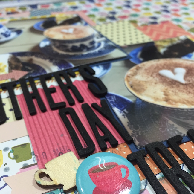 weekly challenge: scrapbook with square photos // scrapbook page by Nancy Sinclair