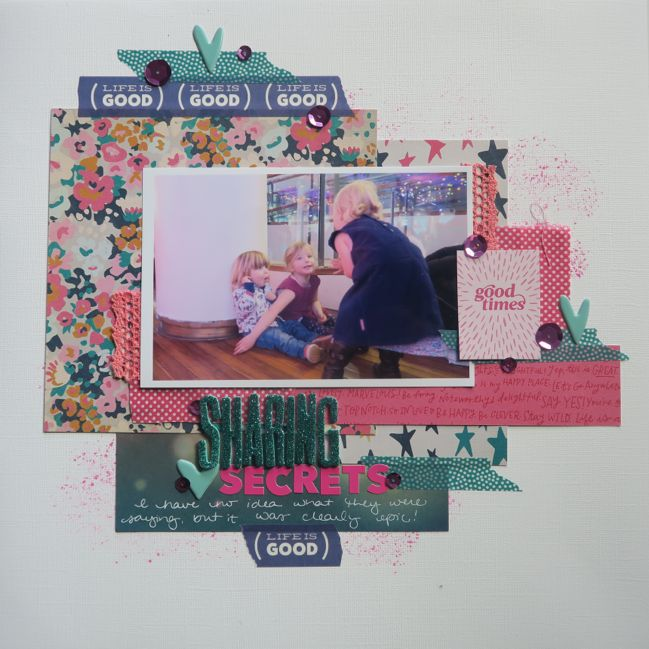 Scrapbooking with fabric and lace // scrapbook page by shimelle laine
