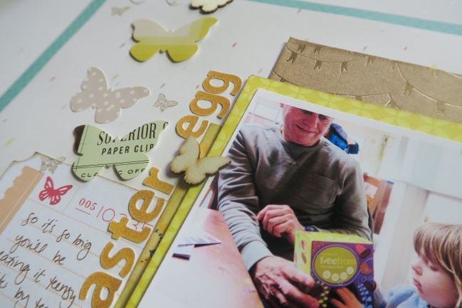 a simple stamping technique for scrapbook pages // scrapbook page by Shimelle Laine