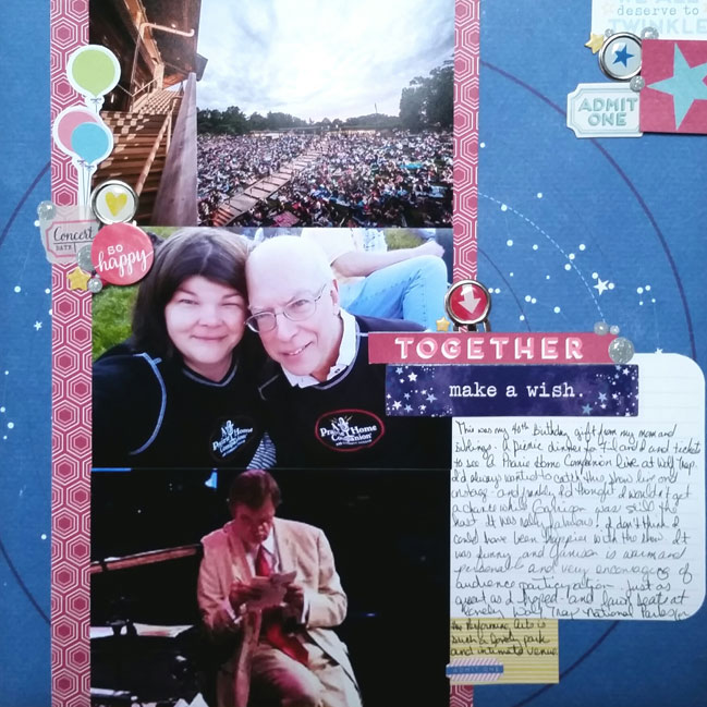 bright and bold colour story // scrapbook page by Charity Feit