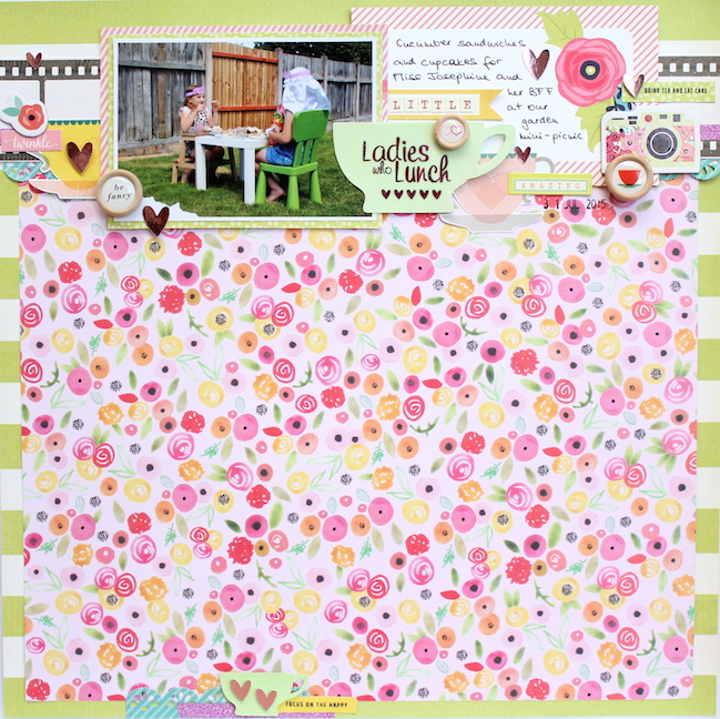 weekly challenge: scrapbook using just 1/3 of the page // scrapbook page by Antonia Sherlock
