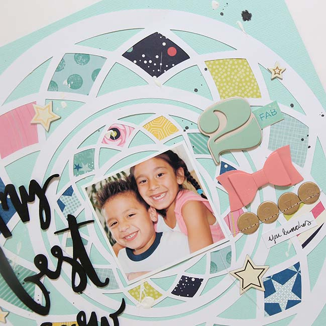 scrapbooking a special photo // scrapbook page by Gina Lideros