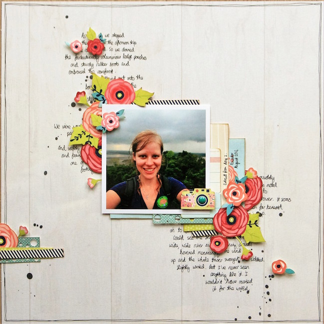 layers of a story: creating an interactive page // scrapbook page by Kirsty Smith