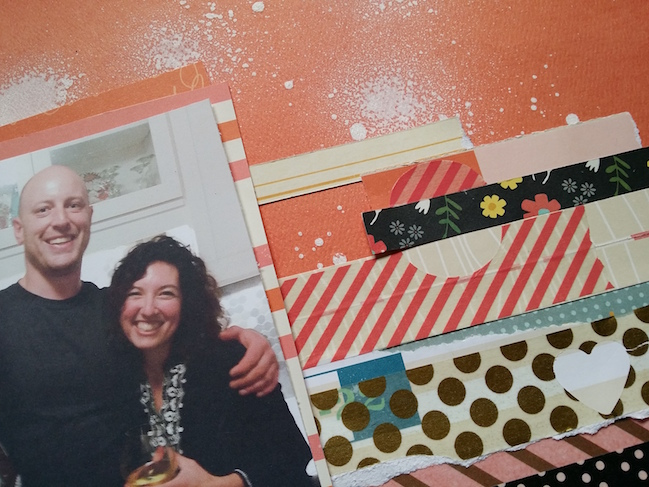 weekly challenge: weekly challenge: take inspiration from a colourful border  // scrapbook page by Anna Bradshaw