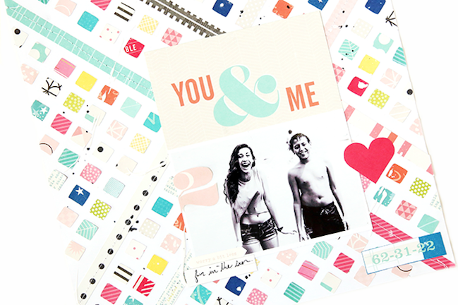 Summer scrapbooking with patterned paper // scrapbook page by Gina Lideros
