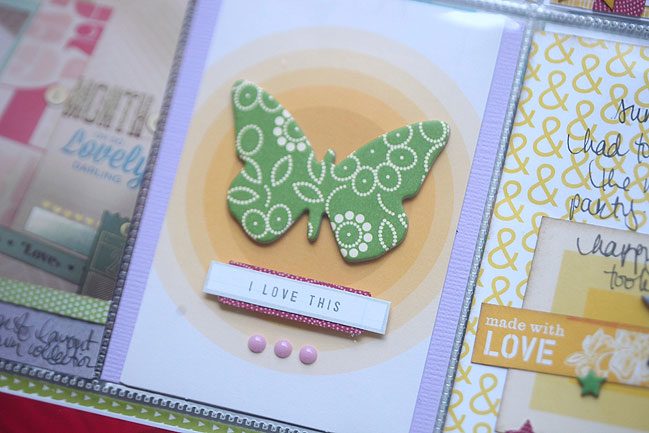 weekly challenge: scrapbook with split complementary colours