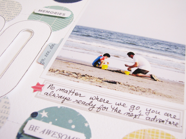 can you scrapbook with just paper? // scrapbook page by Wendy Goodman