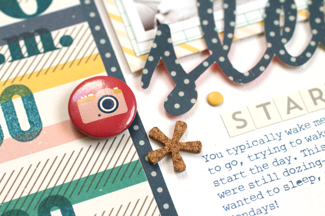 weekly challenge: take inspiration from planners // scrapbook page by Meghann Andrew