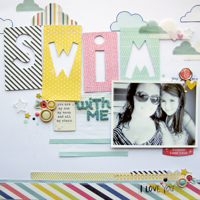 weekly challenge: Cut your scrapbook embellishments by hand // scrapbook page by Nicole Nowosad