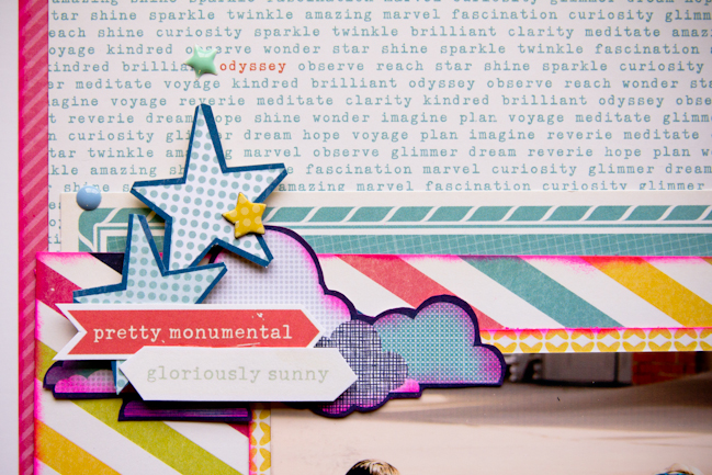 weekly challenge: Cut your scrapbook embellishments by hand // scrapbook page by Jen Campbell