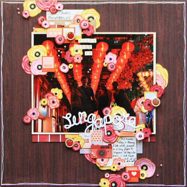weekly challenge: take inspiration from an autumnal page // scrapbook page by Kirsty Smith